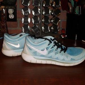 8.5 Baby Blue Nike Free Run 5.0